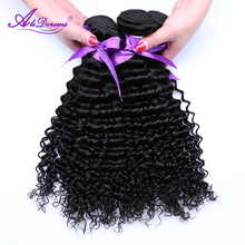Alidoremi Malaysian Deep Wave Hair Weave Bundles 100% Human Hair Weaving Nature Color Non-Remy Hair Free Shipping