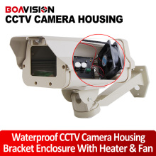 IP66 Outdoor CCTV Camera Housing Bracket Enclosure With Heater And Fan Size 298*145*110mm For Extreme Cold Or Warm Weatherproof