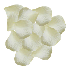 1000 Pcs Heart Shaped Red Rose Petals,Ivory white(China)