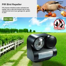 Hot Humane Protective Black Ultrasonic Infrared Harmless Sound Flashlight Birds Repeller Driving Controller