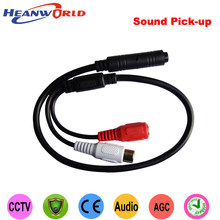 cctv Mic Microphone speaker High-Fidelity Sound Monitor Sound Pick-up CCTV Microphone For Security DVR camera CCTV Accessories(China)