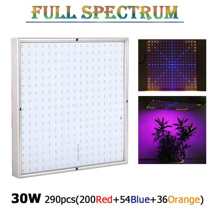 New 290 LEDs 30W LED Plant Grow Light Lamps Red+Blue+Orange AC85~265V SMD3528 Best For Growing and Flowering LED Aquarium Light<br>