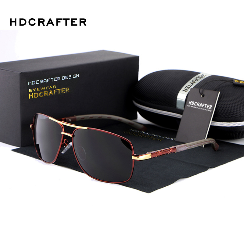 HDCRAFTER Fashion Luxury Designer Vintage Sun Glasses Polarized  Mirror Driving Sunglasses Male Oculos masculino For Women E012<br><br>Aliexpress