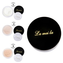 Long Lasting Loose Powder Waterproof Matte Setting Powder with Puff Concealer Light Powder Mineral Makeup