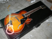 Wholesale and retail New Arrival 7 Strings Hollow Jazz Guitar VS Sunburst Top Musical instruments(China)