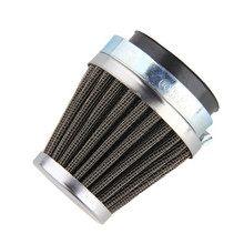 54mm Universal Vespa Motorcycle Air Filter Cleaner Replacement Clamp-on Rubber Metal Silver Pratical High Protection