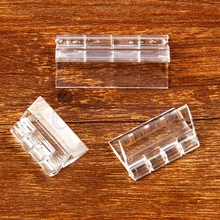 10X Durable Clear Acrylic Plastic Folding Hinges Transparent Plexiglass Hinge HG2761X10-HG2763X10