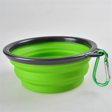 New Silicone Pet Bowl Travel Outdoor Puppy Cat Feeding Food Drink Collapsible *100pcs/lot