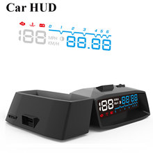 2017 Car HUD Head up Display OBDII Car System Auto KM/H RPM Gas Remind Alarm Parameter Windshield Projector HeadUp Display(China)