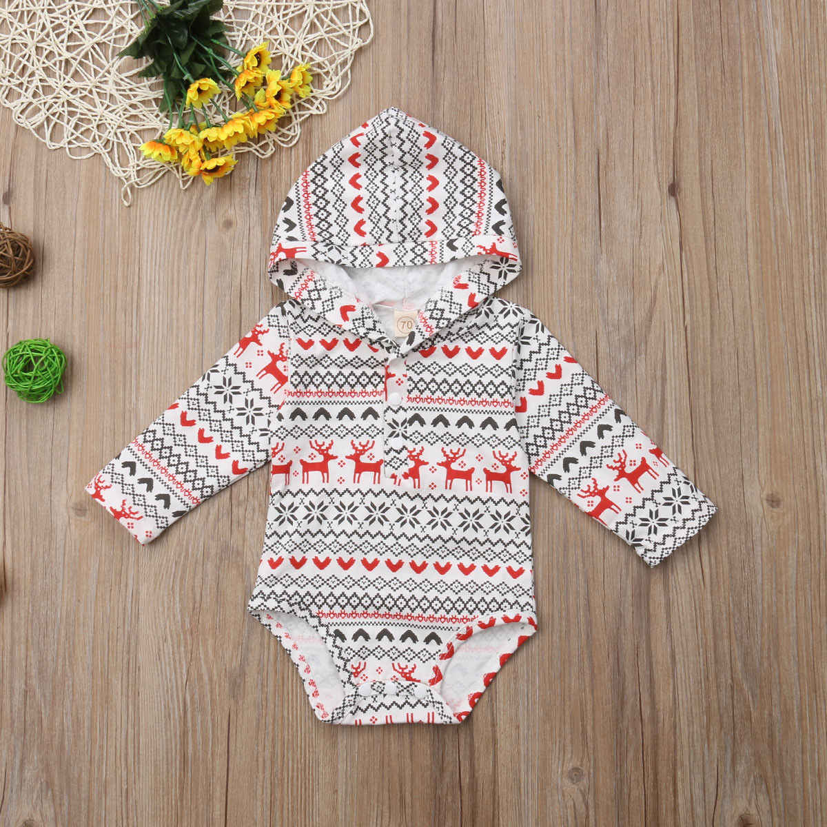 1a8c6be27019 Detail Feedback Questions about S Xmas Hooded Baby Clothes Boy Girl ...