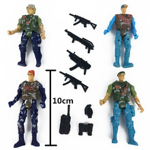 10CM 4 soldiers with weapon Counter Strike Toys Special Force Military Small Toy Figure Weapon Army Toy gift for Boy Children #E(China)
