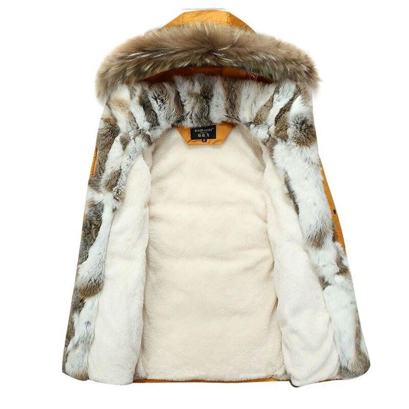 Men Winter Coat Fur Collar Duck Down Parka Jackets...