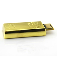 Luxury Gold Bar Pen Drive 512GB Usb Flash Drive 64GB 8GB 16GB 32GB Pendrive Real Capacity Memory Stick Disk On Key 128GB 2.0