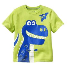 Retail 2017 New Brand 100%cotton summer children t shirts t shirt for boys kids chothes blouse clothing cartoon Casual dress