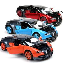 Free Shipping 1:32 Aluminium Alloy Bugatti Veyron Car Model Autos Escala Pull Back Toys Araba For Kids Toy Gift Collection(China)