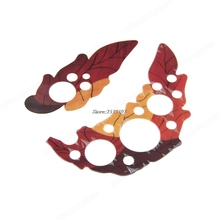 New Pair Of Leaf Design Guard Plates Pickguard Scratch Plate For Acoustic Guitar