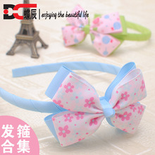 hot sale sweetly flower bows baby girls hairbands kids headbands children hair hoop retail boutique tiara hair accessories