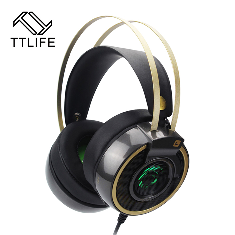 2017 New TTLIFE Deep Bass Headphone Over-Ear Gaming Headsets Headband Earphone Shock LED Light with Microphone for PC LOL Game<br><br>Aliexpress