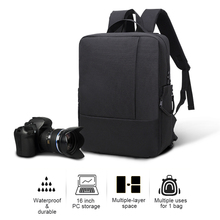 Buy Travel DSLR Camera Backpack Bag Waterproof Shockproof Photography Padded Bags Large Case Nikon Canon Sony Digital Cameras for $39.98 in AliExpress store