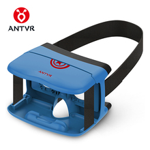 "ANTVR 3D VR BOX Folding VR Glass 3D Glasses Headset Virtual Reality HeadMount Black Light Weight Goggle Cardboard for 5""-6""(China)"