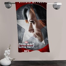 H-P&22 Custom Big Size 140cmx70cm Cotton Bath Towel Black Widow #9 Shower Towel For your family SQ00908-@H022