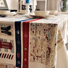 National wind explosion models cotton linen tablecloths Mediterranean table cloth tablecloth Table Covers for Wedding Party Home