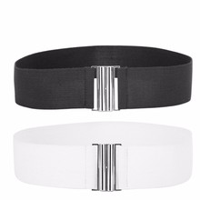 New Wide Elastic Stretch Cinch Waistband Waist Belt Fashion Belt for Women Ladies Girl