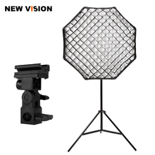 "Godox Portable 80cm / 32"" Umbrella+Grid+ Light Stand+B Type Flash Hot Shoe Adapter Photo Softbox Reflector for Flash Speedlight(China)"