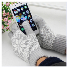 Christmas Gifts Kawaii GLOVES Touch Screen Men/Women Screen Touch Sensory Gloves Stretchy Soft Warm Knitting Winter Gloves Mitts