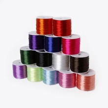 Wire 0.7mm 60M/roll Colorful Stretchy Elastic Cord String For Jewelry Making Beading Wire Jewelry Findings for Making Bracelet(China)