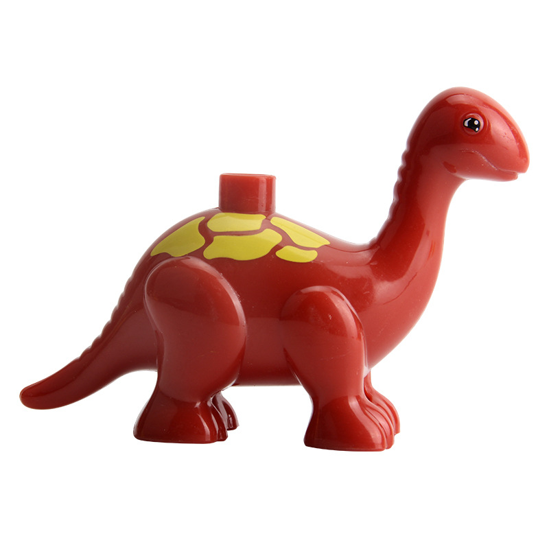 Dinosaurs Duplo Blocks Baby Enlighten DIY Toys Jurassic World Figures Model MOC Red Blue Big Size Jurassic Park Duplo Dinosaurs