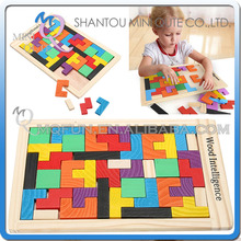 Mini Qute Wooden Puzzles Toy Tangram Brain Teaser Puzzle colorful Jigsaw Toys for Children Kids gift learning Educational Toys