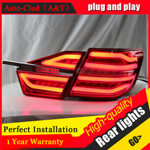 Auto Clud Car Styling for Toyota Camry Taillights 2015 New Camry V55 LED Tail Lamp Rear Lamp DRL+Brake+Park+Signal led lights