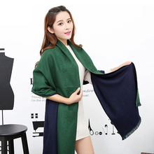 Fashion New Two Side Reversal Women's Cashmere Pashimina Thick Soft Shawl Scarfs Wrap New Year Shawl 200x60cm 12 Colors 121105