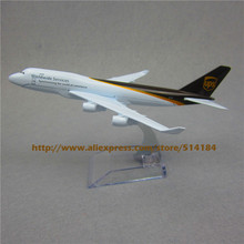 16cm Alloy Metal Air UPS Airlines Boeing 747 B747 400 Airways Plane Model Aircraft Airplane Model w Stand  Gift