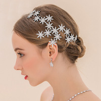 New  Design shiny silver bridal tiaras fashion crystal headband crown for bride dress wedding hair accessories wholesale