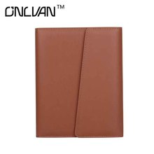 ONLVAN Fashion Notebook PU Leather Notebook Office Supply Brown Color Business Accessories New Design Notebook High Quality
