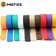 ZS MOTOS 1.5 mm*50 mm*5 m Fiberglass Exhaust Protection Pipe Heat Header Insulation Tape Turbo Wrap