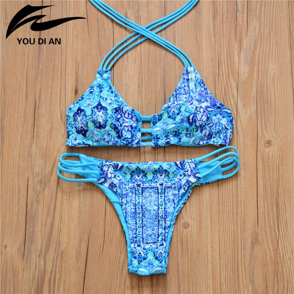 The 2016 Womens Body Sexy Thin Bikinis Two Piece Double Halter Swimsuit Models Fresh Hot Springs<br><br>Aliexpress