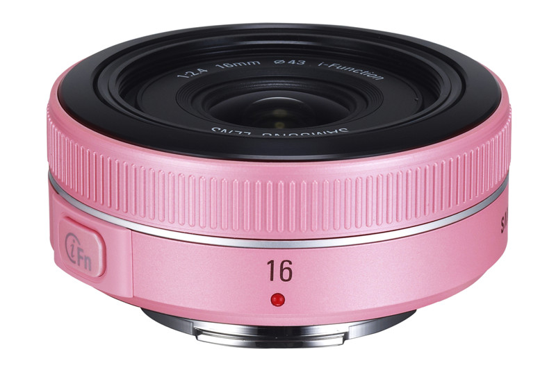 Pink Digital camera lens 16mm F2.4 for Samsung NX20 NX100 NX1000 NX110 NX1100 NX200 NX2000 NX300 NX300M NX3000 NX210(China)