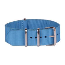 Buy 2 GET 25% OFF) NEW 22mm Nato Nylon Watch SOLID BLUE COLOR Army Military fabric Woven watchbands Strap Band Buckle belt
