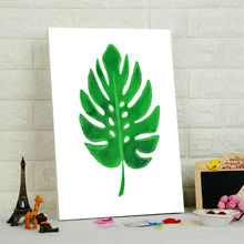 coloring by numbers  Simple tree leaves  wall pictures for living room  green leaves  diy oil painting  drawing practice