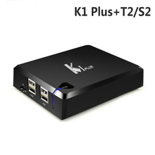 K1 Plus Combo Receiver Android DVB-S2+T2 SatelliteTerrestrial Decoder 1G/8G 1080P 4K Android 5.1 TV Box Support Cccam Newcamd