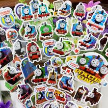 Hot New 6pcs/set Thomas and his friend Stickers Mixed Cartoon Bubble Action Figures Assembles Kid Train Cartoon Stickers Toy