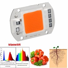 LED Full Spectrum DIY Grow Light smart IC 220v 110v Led COB Chip Growth Lamp Garden Hydroponic Plant Broad 380nm-840nm