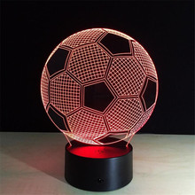 3D LED Desk Lamp Football Sport Night Light for Soccer Bedside Nightlight Gift Luminaria Bedroom Lighting Reading Children Lamp(China)