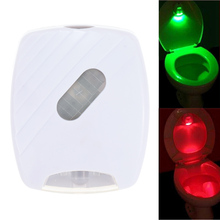 LED Human Motion Activated PIR Light Sensor Toilet Light Bathroom Flush Toilet Lamp Battery-Operated LED Night Light Red & Green(China)