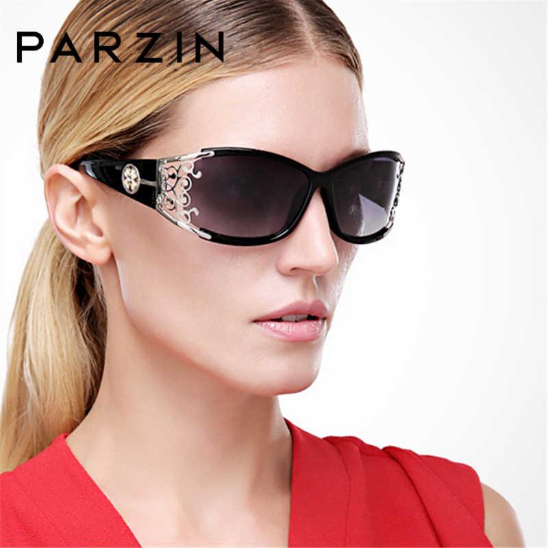 2363fc5a22b0 PARZIN 2018 женские солнцезащитные очки Поляризованные Ретро женские  роскошные солнцезащитные очки для водителя элегантные полые кружевные
