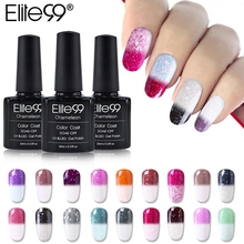 Elite99 New Arrival 10ml Snowy Thermal Chameleon Temperature Change Mood Color Gel Polish DIY Nail Art UV Gel Polish(China)