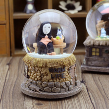 ymy man without face crystal ball rotation clockwork music box music box ornaments Home Furnishing animation spirited away